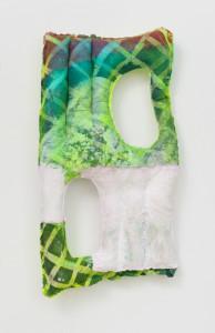 Meg Lipke, Support 2015 Muslin, fabric dye, beeswax, polyfil, plaster, 15 x 8 x 4 inches