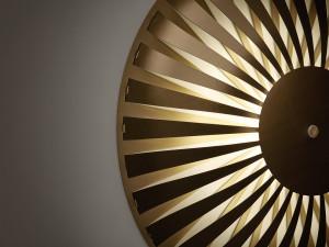Studio Susanne de Graef Glint Light Flat (Close-Up), 2017. Anodized aluminum, 16 x 16 x 4 inches.