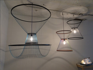Installation view of Light Enlightened, 2017 at LMAKbooks+design. Lights by Studio Susanne de Graef.