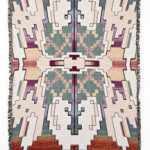 David B. Smith Rainbow Turtle 2016 Digitally woven cotton blanket 71 x 53 inches