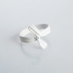 E for Effort  Twist Tie Ring White  Divers sizes