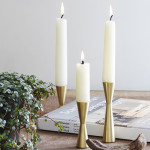 Candlestix by Avandi 3 brass candle holders