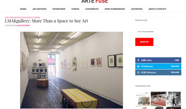 Artefuse's profile on LMAKgallery and review of shows