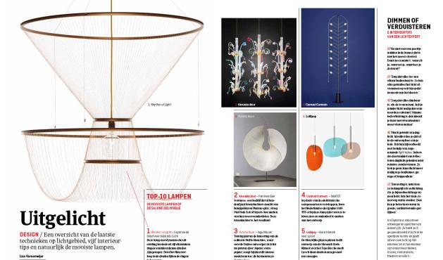 "Susanne de Graef's ""Rhythm of Light"" is selected as #1 Design by Elsevier Intereur"