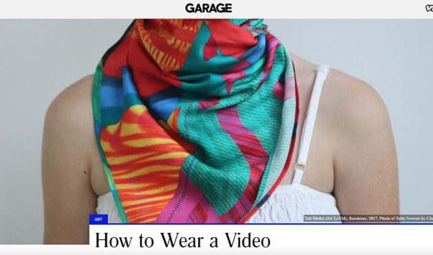 Vice Magazine Garage's Paddy Johnson features LoVid